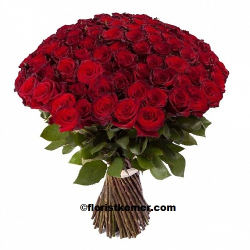 kemer florist 101pc Red Rose 1st Class