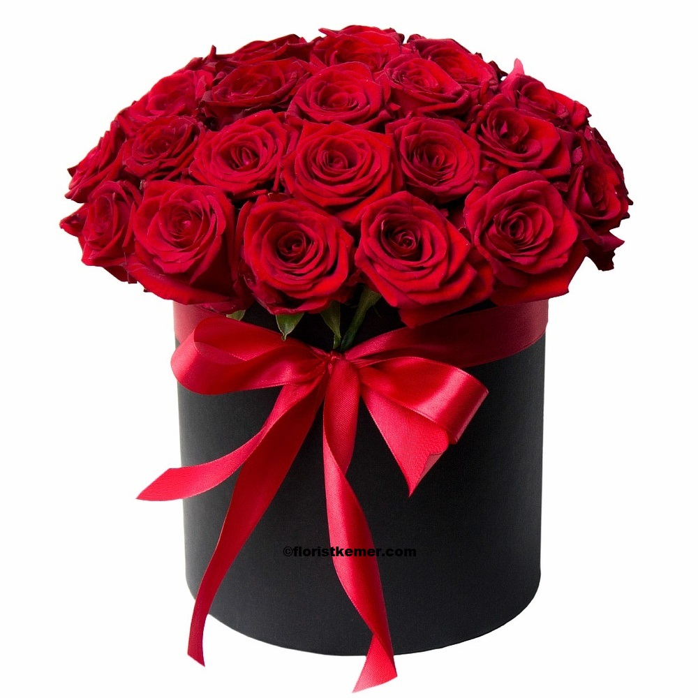kemer florist Box 25pc Red Rose