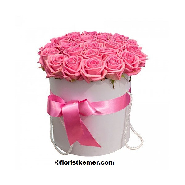 kemer florist Box 25pc Pink Rose