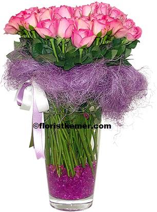 kemer florist Vase 39 pc Pink Rose