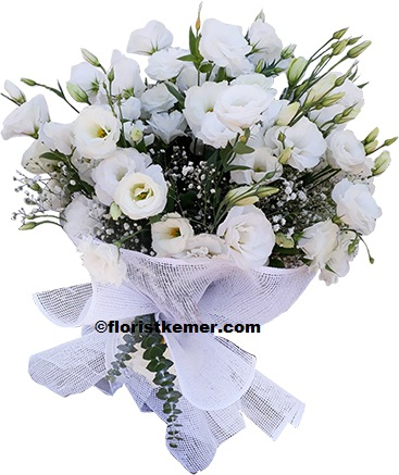 kemer florist White Lisyantus Bouquet