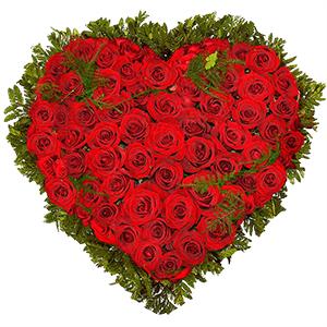 kutuda beyaz güller Kalp Gül Arajman