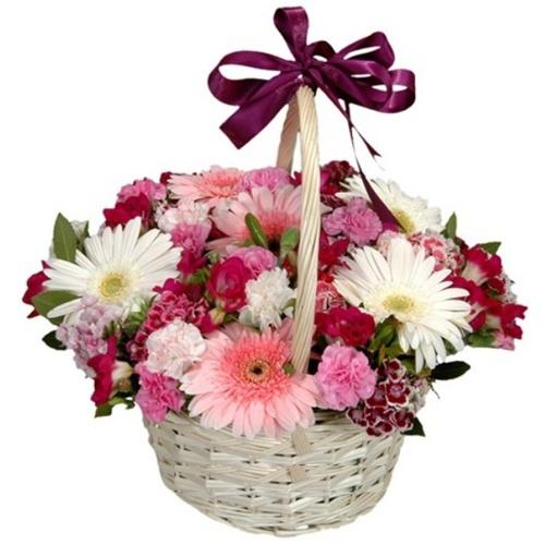beyaz papatya buket Sepette Kır Çiçekleri