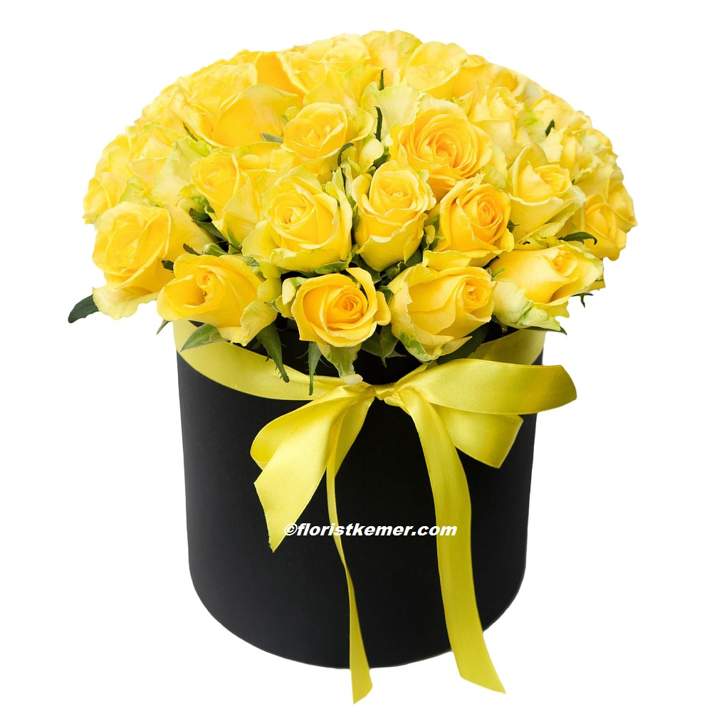 kutuda 9 adet kırmızı gül Kutuda Sarı Güller